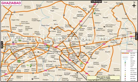 ghaziabad in india map pin by india maps on india maps