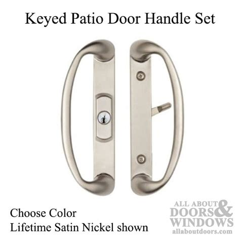 Keyed Patio Door Handle Keyed Patio Door Handle Set Center Key Position Choose Color