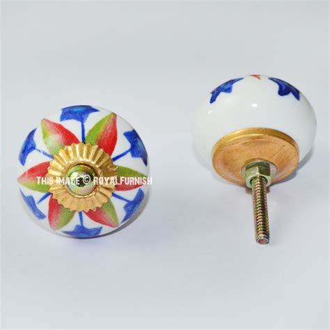 painted ceramic cabinet knobs hand painted floral ceramic pull cabinet knobs