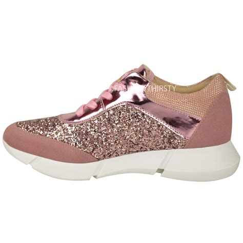 womens glitter sneakers womens glitter trainers sneakers fashion casual