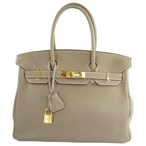 Tas Hermess Birkin Clemence 30cm Best Seller hermes 30 cm etoupe clemence birkin ghw 2013 for sale at 1stdibs