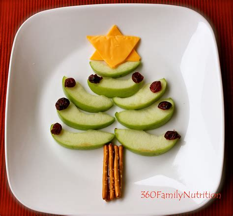 360familynutrition healthy christmas tree snack