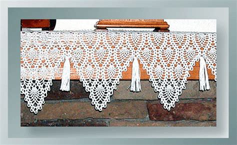 classic pineapple mantel scarf crochet mantle scarf patterns