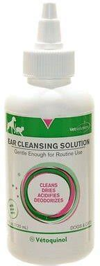 ear solution for dogs vetoquinol vet solutions ear cleaning solution for dogs cats 4 oz bottle chewy