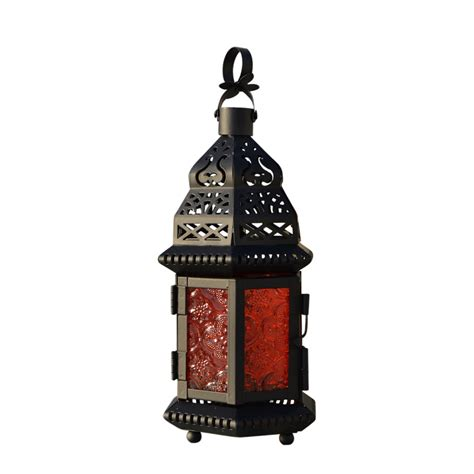 Glass Lantern Candle Holder by Cool Glass Metal Moroccan Delight Garden Candle Holder