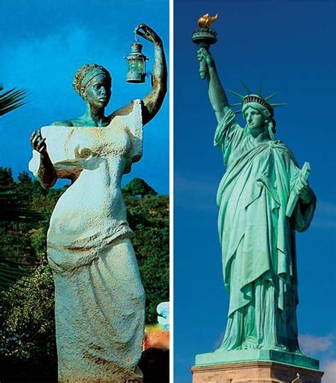 original color of the statue of liberty the statue of liberty in black and white at left is
