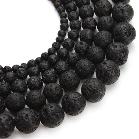 best quality lava l black lava beads natural stone volcanic rock top quality
