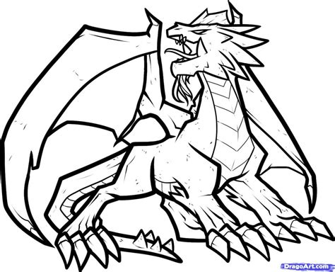 free coloring pages of fire dragon