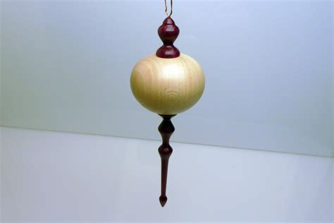 wood turning project christmas ornament for chad s charity