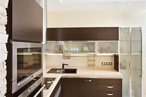 Frosted glass cabinets frosted glass kitchen cabinet door with brown varnished wood kitchen