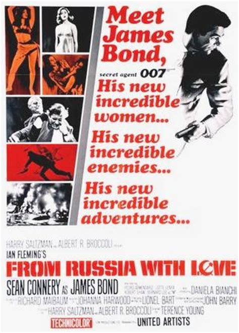james bond from russia with love from russia with love a james bond film starring actor sean connery a to z directory