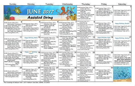 assisted living activity calendar template assisted living activity calendar template activity
