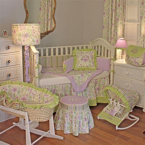 lilac crib bedding lilac garden crib bedding set by hoohobbers