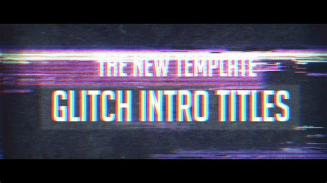 After Effects Template Glitch Titles Intro Free Download Youtube Free After Effects Template Glitch Intro