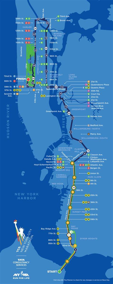 nyc marathon map nyc marathon 2014 route details silive