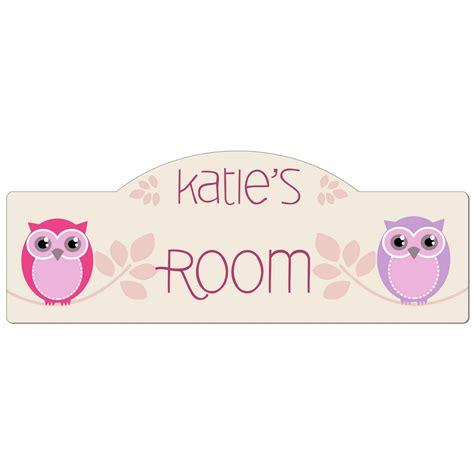 girls room personalized owl door sign