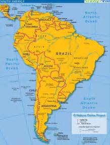 S America Map by Map Of South America