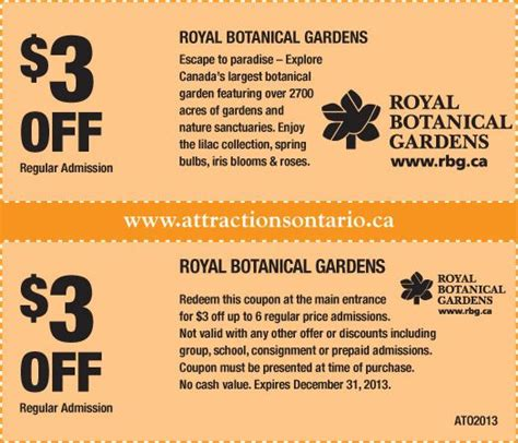 Botanical Gardens Coupons 68 Best Images About Attraction Coupons 2013 2014 On Pinterest
