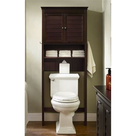 Bathroom Storage Shelf Organizer Cabinet Spacesaver Over Bathroom Toilet Storage