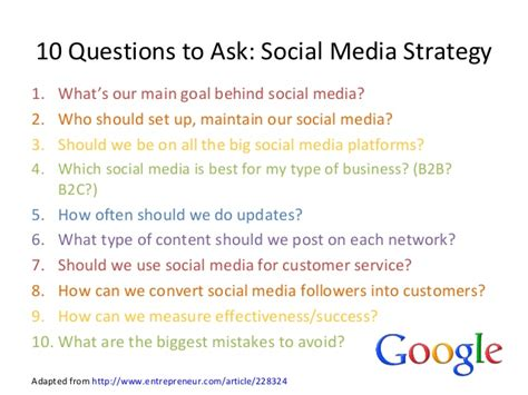 How Many Questions To Ask In An Mba by Social Media For Business October 2013