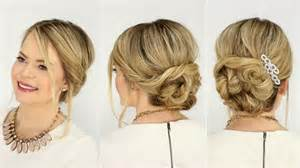 soft updo hairstyles for s soft twisted updo prom hairstyle missy sue youtube