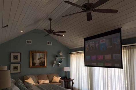 master bedroom home cinema