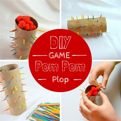 DIY Game POM POM PLOP – Miniature Masterminds Empty Toilet Paper Roll Png