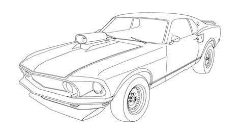 Super Car Mustang Coloring Pages Coloringsuite Com Cars The Coloring Pages