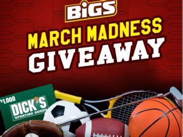 March Madness Sweepstakes - bigs march madness giveaway sweepstakes