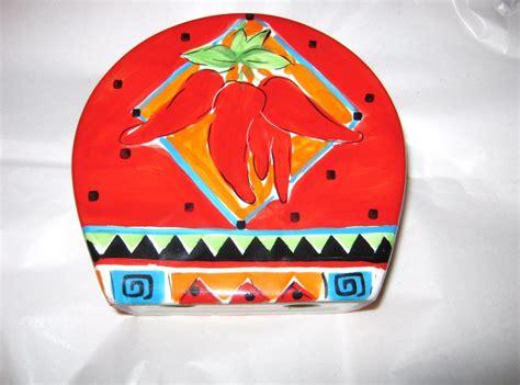 amazon com 3d red chili pepper utensils holder kitchen hausenware red chili pepper ceramic napkin holder other