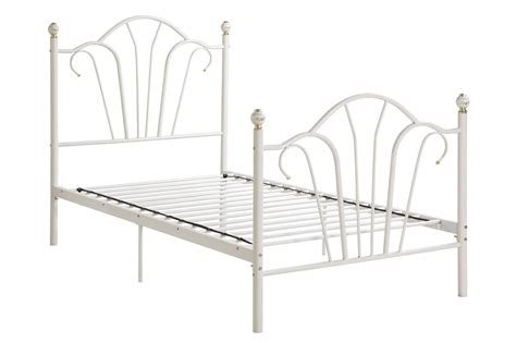 twin metal bed poundex f9071t white twin size metal bed steal a sofa