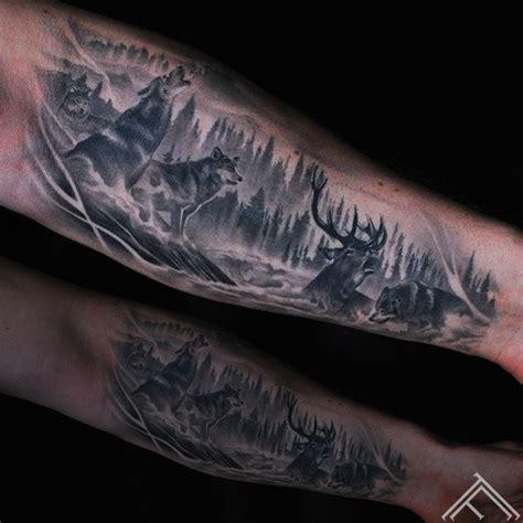 tattoo nation port macquarie nsw deer wolfs vilki briedis tattoo tetovejums tattoofrequency