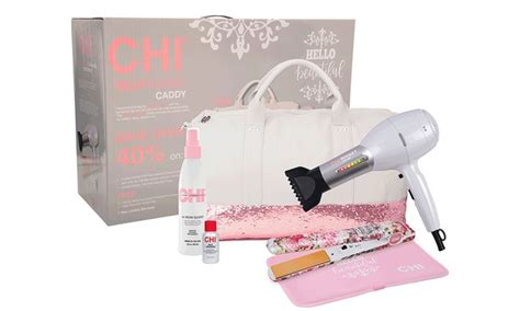 Lewis Mini Hair Dryer And Straightener Travel Set chi hello beautiful bundle groupon goods