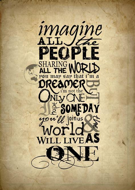 Imagine Lennon The Beatles 72 arts for lennon omygad