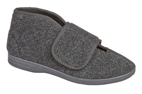 Diabetic Orthopaedic Comfort Slippers Boots Shoes Fur Lined Extra Wide Mens 6 12 Ebay