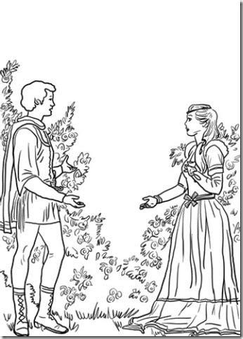 dibujos de Romeo y Julieta para colorear - Jugar y Colorear