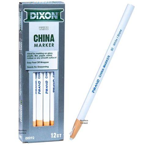 Dixon Phano China Marker dixon phano china marker white 92 00092 peel grease pencil nordisco