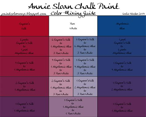 colorways sloan chalk paint mixing for purple with emperor s silk napoleonic blue