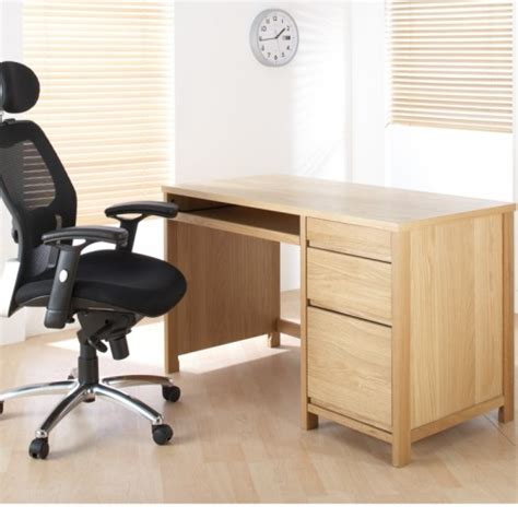oak veneer desk home office furniture uk