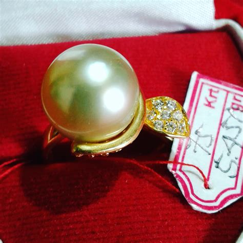 Mutiara Asli Lombok Flower Ring handmade gold ring with south sea pearl cez 04 harga mutiara lombok perhiasan toko emas