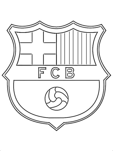 Logo Of Fc Barcelona Coloring Pages Soccer Team Coloring Pages