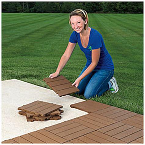 interlocking polywood deck patio tiles  pack big lots