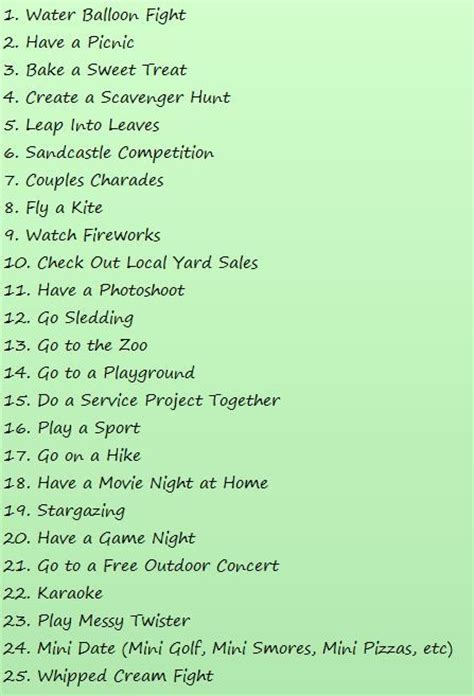 cheap dates 25 and cheap date ideas of their youth