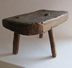 Miniature 3 Legged Stool by Robert Antiques Collection Traditional Three