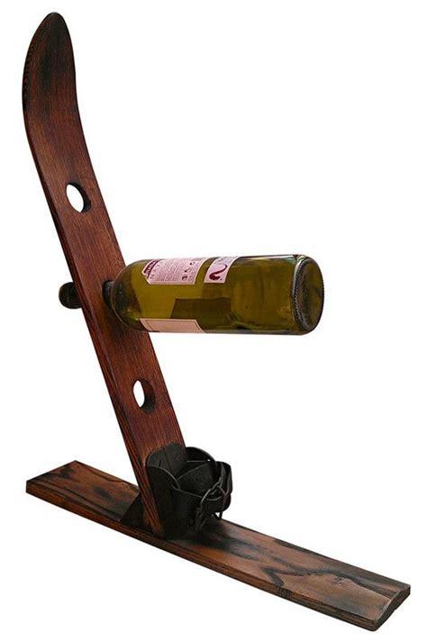 Wooden Ski Rack by Wood Ski Wine Rack