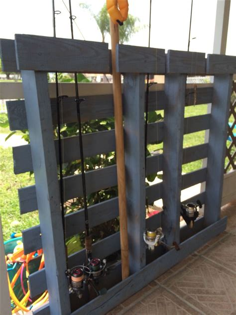 diy pallet project fishing rod holder crafts