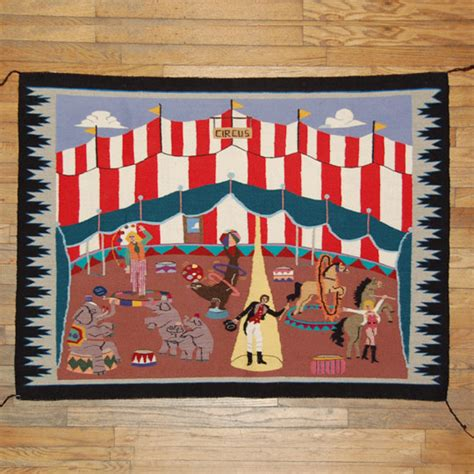 circus rug other southwest collectibles navajo textiles blankets din 233 navajo nation florence