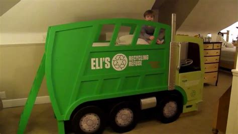 truck beds for toddlers eli s garbage truck bed youtube