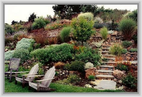 garden ideas for sloping backyards backyard landscaping ideas sloped yard outdoor furniture