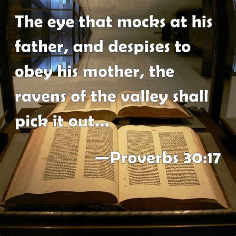proverbs   eye  mocks   father